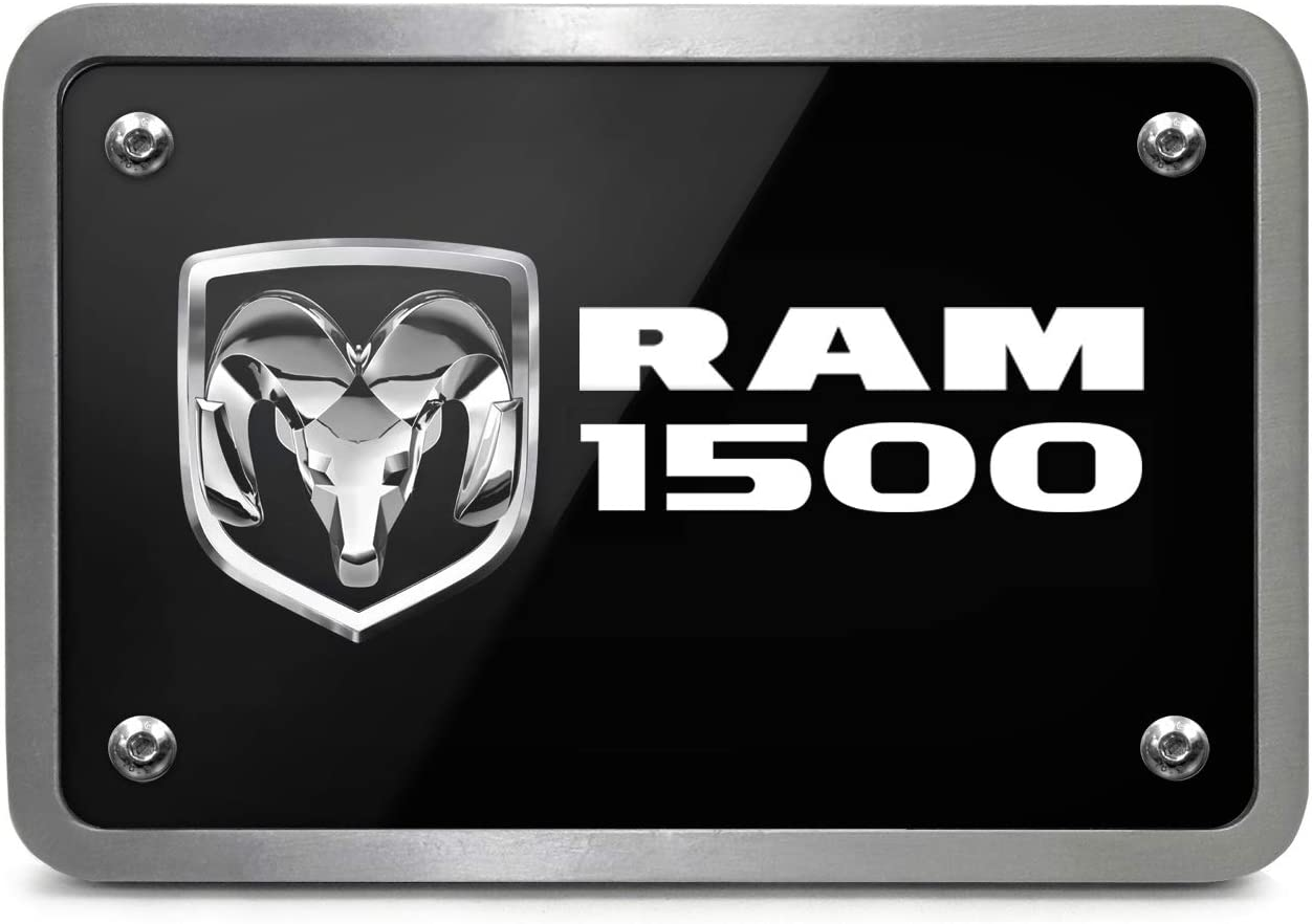 Brushed Silver Graphic Plate Billet Aluminum 2 X 2 inch Tow Hitch Cover Chevrolet iPick Image