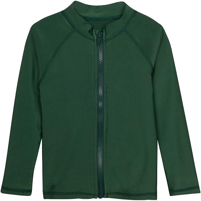 Multiple Colors Girls Long Sleeve Zipper Rash Guard Swim Shirt SwimZip UPF 50