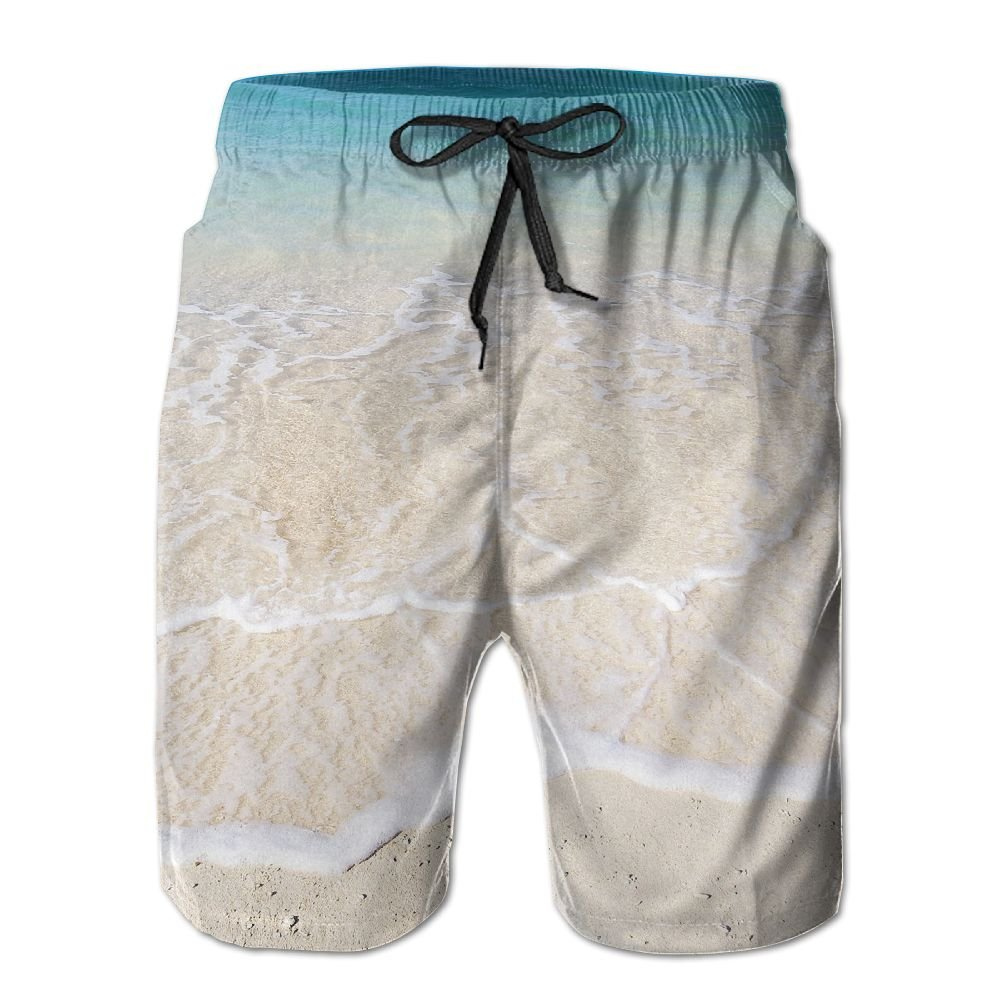 GOWISD Men's Wave Fine Sand Casual Swim Trunks Quick Dry Beach Shorts Surfing Running Swimming Shorts Pockets