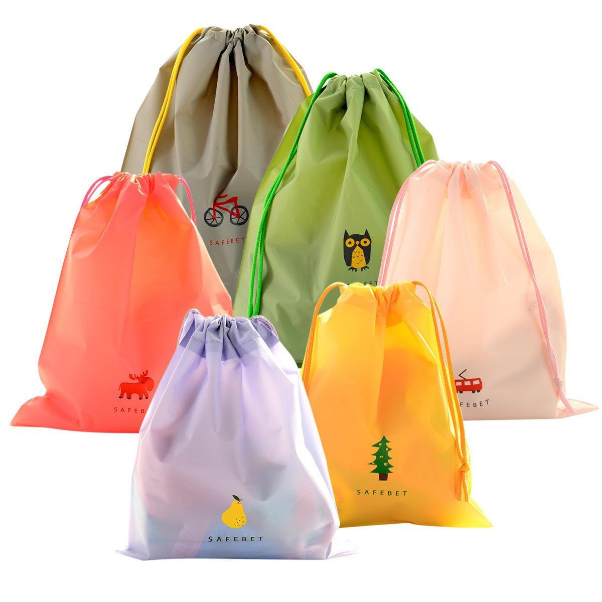 Set di 6 Borsa Morbida Impermeabile Borse Da Viaggio Coolzon® Sacca da  Ginnastica del PE 946d59818fa