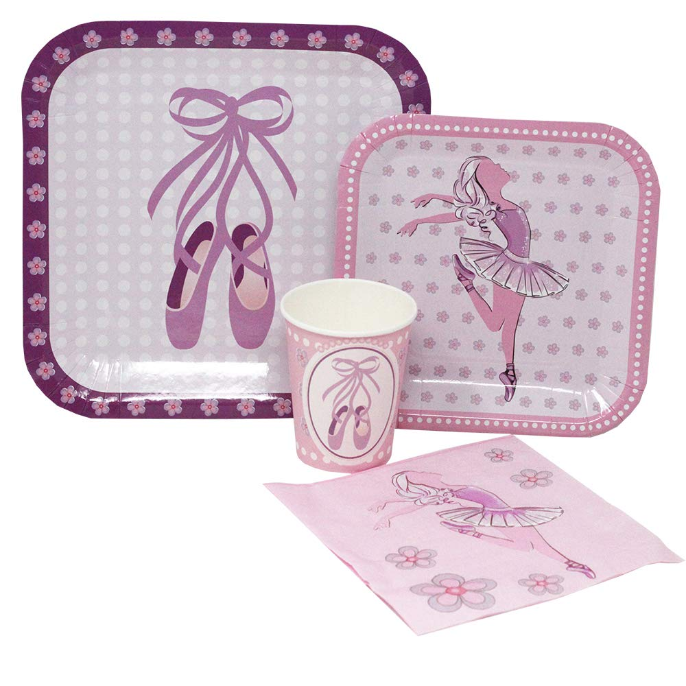 Blue Orchards Ballet Standard Party Packs (65+ Pieces for 16 Guests!), Dance Party Supplies, Ballet Birthday, Ballerina Decorations, Tableware