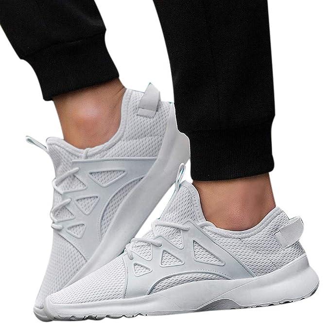 JiaMeng Zapatillas Deporte Hombre Zapatos de Entrenamiento para Hombre Malla Respirable Zapatillas Aptitud Ligero Deportes Zapatos para Correr: Amazon.es: ...