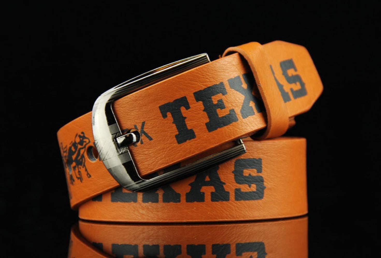 Gift Belt Casual European and American Denim Belt PLLP English Letter Belt Mens Belt Gift Belt pin Buckle Belt