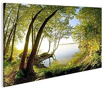 Quadro moderno árbol treelake V2 in Riva Al Lago Impresión ...
