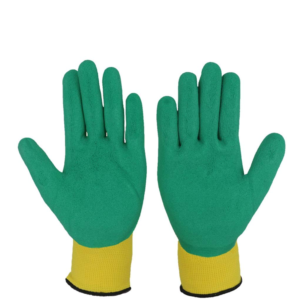 AINIYF Industrial Gloves Latex Foam Gloves Wear-resistant Anti-skid Gloves Multipurpose Perfect Fit For For Men And Women Gardening Gloves(12 Pairs) (Color : Green)