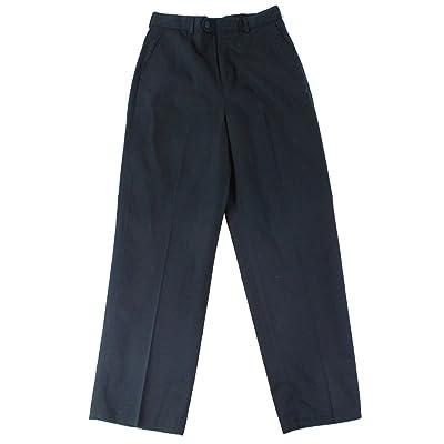 Enro Navy Boys Straight Leg Flat Front Classic Pants Blue 14