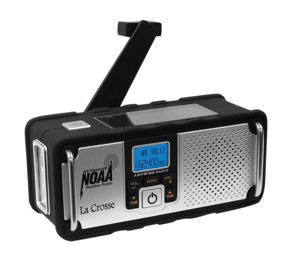LA CROSSE TECHNOLOGY 810-106 NOAA Solar Weather Radio Camping & hiking by La Crosse Technology