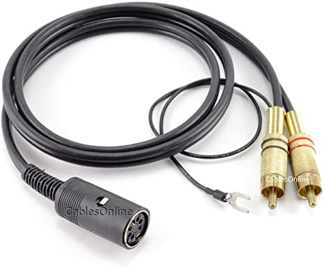 Black for Bang /& Olufsen BO-2706K CablesOnline 6ft 7-Pin Din Male to 2-RCA Male Professional Premium Audio Cable Quad.Stereo Systems Naim