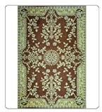Outdoor Area Rug or Kitchen Mat - 4 X 6 Brown Patio Indoor Outdoor Area Rugs Reversible & Waterproof