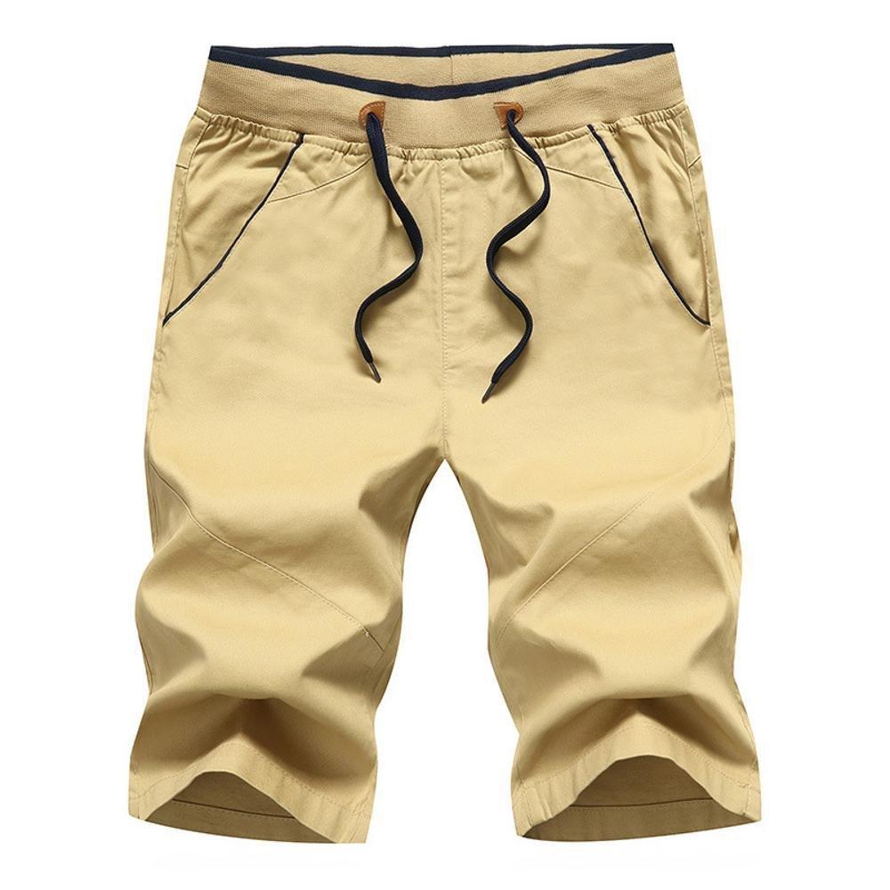Kaxima Atmungsaktive Herren lässige Shorts Baumwollhosen