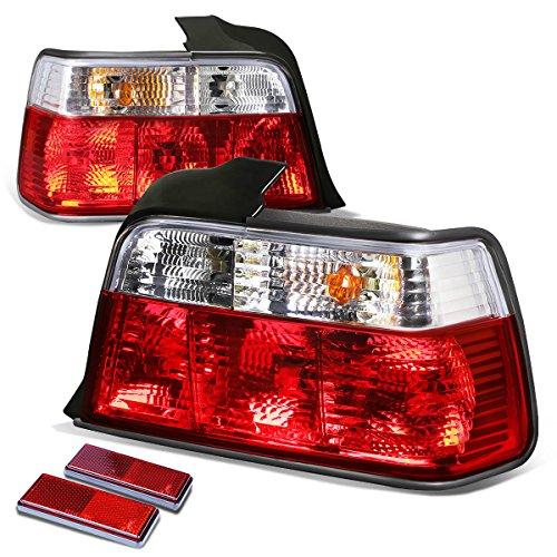 - For BMW E36 3-Series 4Dr Pair of Chrome Housing Red Rear Brake+Signal Tail Light