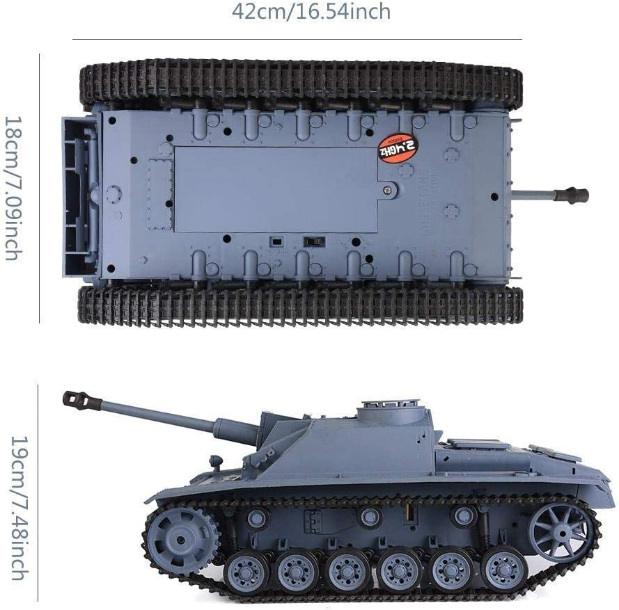 USB Cable Realistic Heng Long 3868-1 2.4GHz 1//16 Scale High Speed RC Tank Toy German III F-8 Remote Control Tank Car