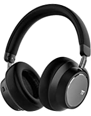 Noise Cancelling Bluetooth Headphones, TaoTronics [2019 New Version] Hybrid Active Noise Cancelling Over Ear Headset with Audio Deep Bass, Quick Charge, 30 Hours Playtime