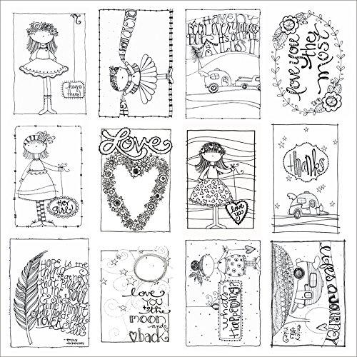 Adorn-It 25 sheets Art Play Paintable Love You Cardstock, 12 x 12 by Adorn-It B00UNRB11C