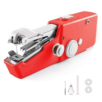 Amazon.com: Mini máquina de coser portátil de mano ...