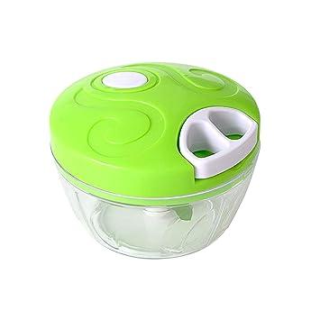 Manual Chopper verduras Frutas Pull dicer con 5 cuchillas potentes Robot de cocina para cebolla ajo Nueces hierbas Salsa Ensalada pesto coleslaw Puré Cocina ...