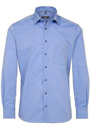 bcfc93870f0a0d eterna Herren Hemd Langarm Comfort Fit Elegantes Business Büro Hemd  Freizeit Baumwoll Hemden 8504 15 E187 Blau  Amazon.de  Bekleidung