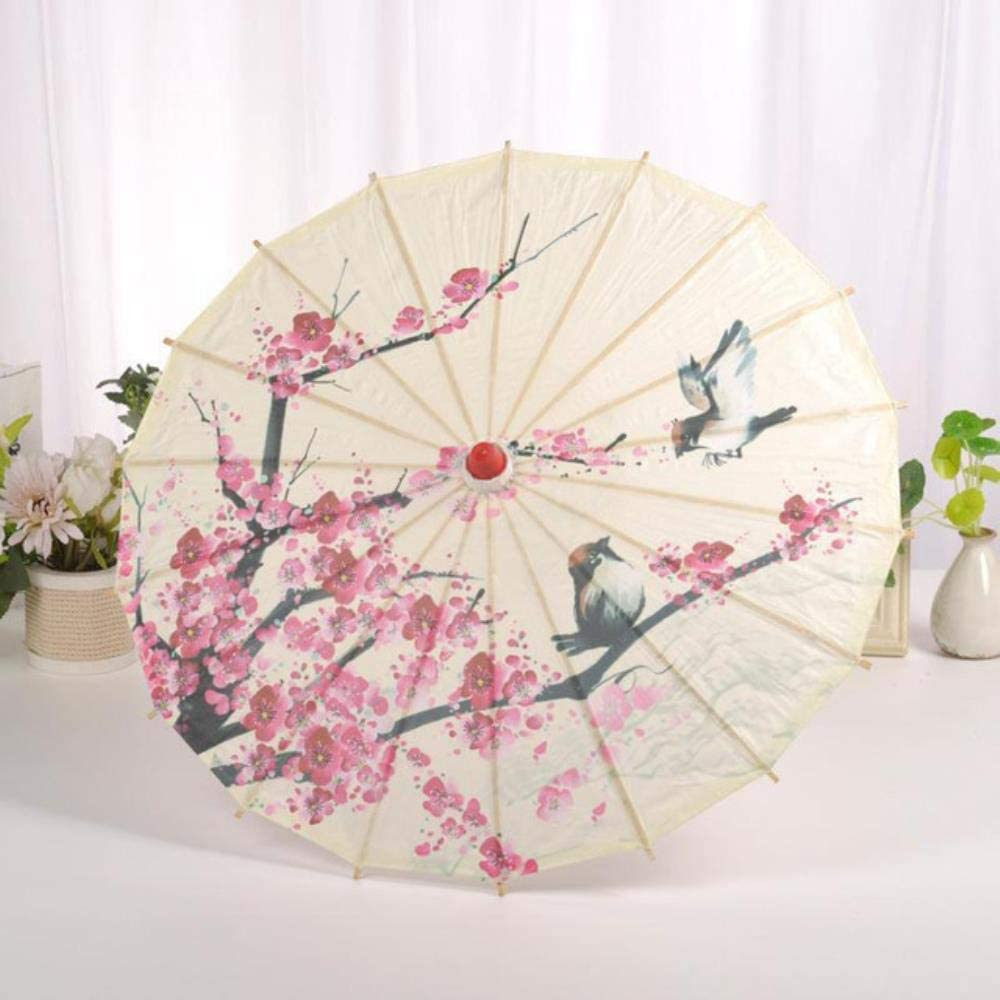 Ethan Chinese Japanese Oil Paper Umbrella Parasol Dancing Umbrellas Wooden Handle Craft Womens for Wedding Decoration S-51225