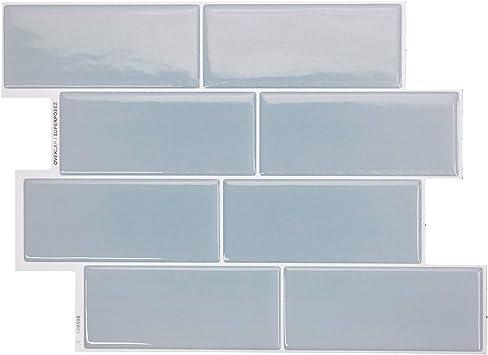 Smart Tiles Self Adhesive Wall Tiles Metro Babe 4 Sheets Of 11 56 X 8 38 29 36 Cm X 21 29 Cm Kitchen And Bathroom Stick On Tiles 3d Peel And Stick Backsplash Amazon Com