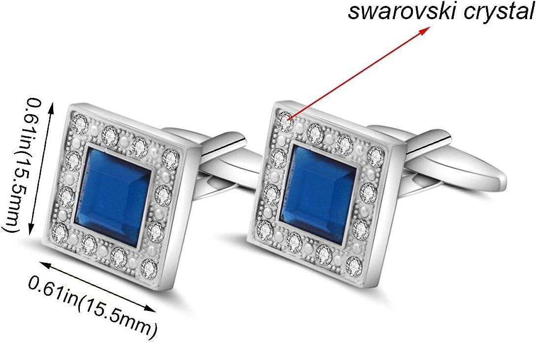Merit Ocean - Gemelos Para Hombre, Con Cristales Swarovski ...