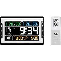 Tomshin Temperatura interna e externa Umidade Relógio digital multifuncional e termo-higrômetro Termômetro e higrômetro…