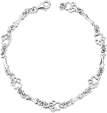 The Golden Hound Jewelry/'s /'Beach Sterling Silver Link Bracelet/'