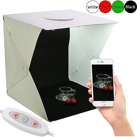 Caja de luz para Estudio de 40 cm, portátil, para fotografía, Tienda de campaña con luz LED: Amazon.es: Electrónica