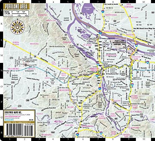 Laminated City Center Street Map