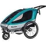 Qeridoo Sportrex1 (2018) Kinder-Fahrradanhänger für 1 Kind (mit einstellbarer Federung)