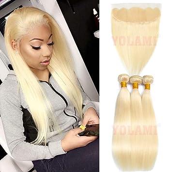 Amazon Com Yolami Hair 613 Platinum Blonde Brazilian