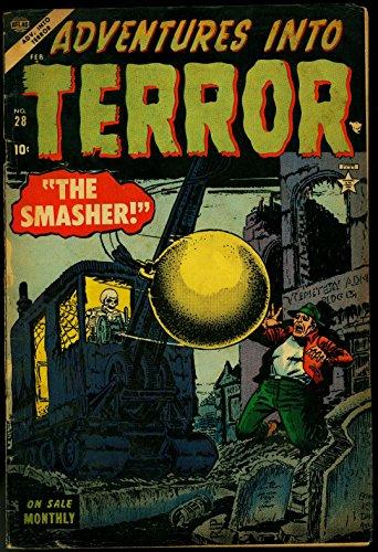 Adventures in Terror #28 1954-skull wrecking ball cover- Atlas horror VG+ (Wrecking Ball Best Cover)