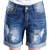 Women's Lovely Holes Jeans Shorts