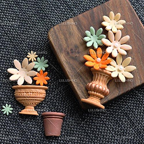 Astra shop 4-Piece Daisy Flower Fondant Plunger Cutter Stamp Set