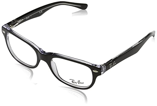 2e8e2586424 Image Unavailable. Image not available for. Color  Ray-Ban RY 1555 3529  Black On Transparent Plastic Rectangle Eyeglasses 48mm