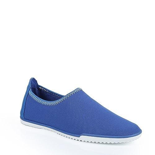 Ideal Shoes tenis en lienzo y colorée Margot, Azul (azul), 38: Amazon.es: Zapatos y complementos