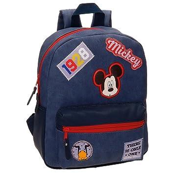 Disney Mickey Parches Mochila Infantil, 32 cm, 8.64 litros, Azul: Amazon.es: Equipaje