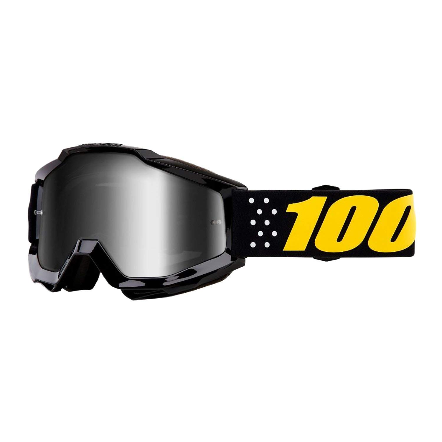 100% Accuri Youth Boys' Off-Road Motorcycle Goggles - Pistol/Mirror Silver/One Size by 100%