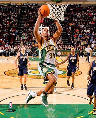 - Ray Allen Seattle Supersonics NBA Action Photo (Size: 8