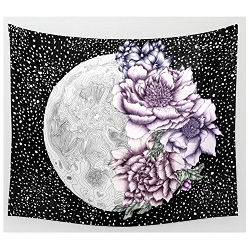 Bouquet Wall Tapestry - KRWHTS House Decor Tapestry_Floral Classic Style Chrysanthemum Flower Petals Bouquet Romantic Vintage Artwork Dark Coral White_Wall Hanging For Bedroom Living Room Dorm