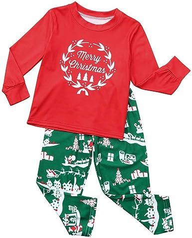 Baby Boys Girls Christmas Pyjamas Cute Novelty Xmas Pjs Babies Festive Outfit