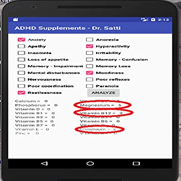 Amazon com: ADHD Supplements Analysis: Appstore for Android