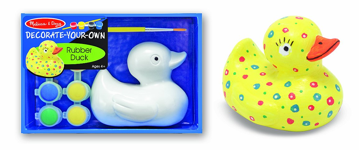 Amazoncom Melissa Doug Decorate Your Own Rubber Duck Craft Kit