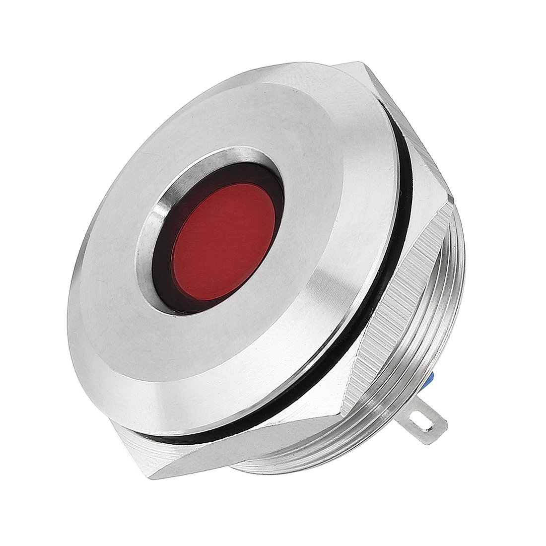 uxcell LED Indicator Light 12V 30mm Red Pilot Custom Dash Signal Lamp Concave Head