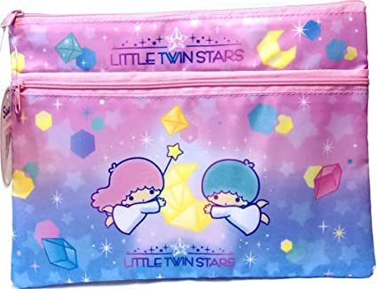 Amazon.com   Little Twin Stars 2-Pockets Collection Bag A5 Size File ... 5ccd9be3f7555
