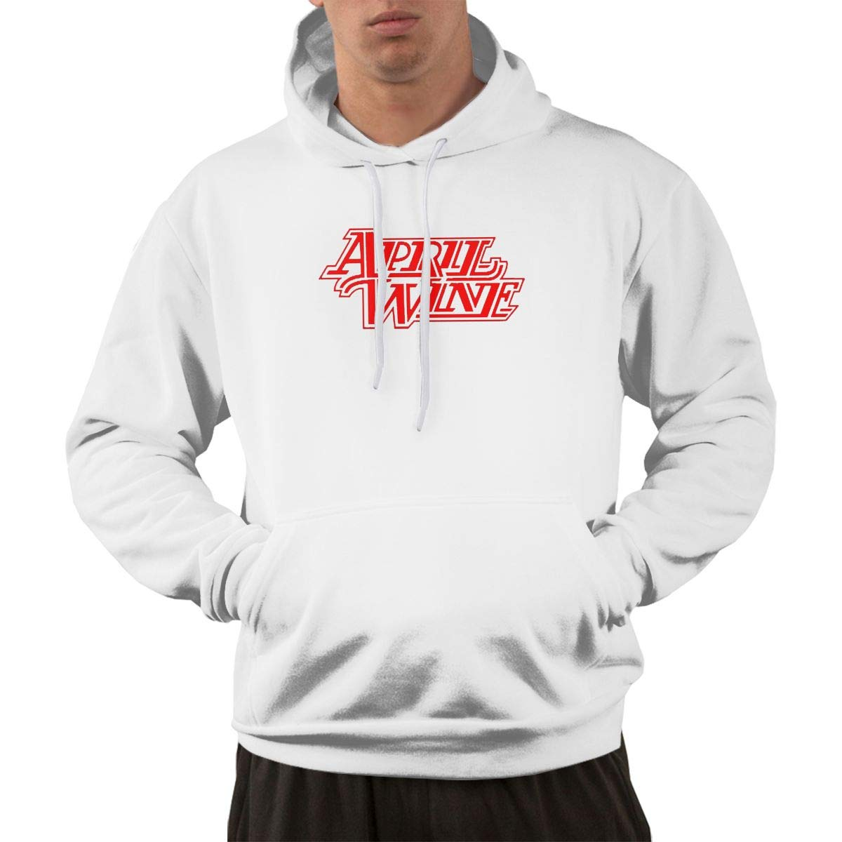 Erman S Pullover Comfortable Print April Wine Hooded Shirts With Pocket M