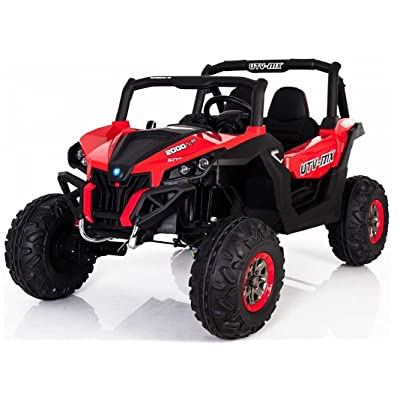 -HUGE -POWERFUL! One Of the BIGGEST Ride on Car On the Market! to 24V in Total! REAL 2 SEATER! +shock absorbers+4 MOTORS+3 SPEEDS! REMOTE CONTROL! Ride on children electric two seats car!