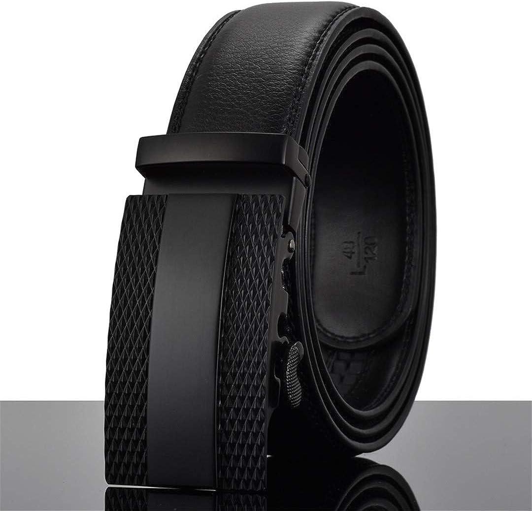 JUIHUGN Designers Men Automatic Buckle Leather Luxury Belt Business Male Alloy Buckle Belts for Menhomme X 125cm