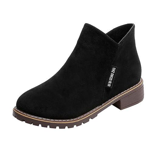 Faux Suede Walking Shoes Womens Inside Zipper Flat Heel Ankle Booties