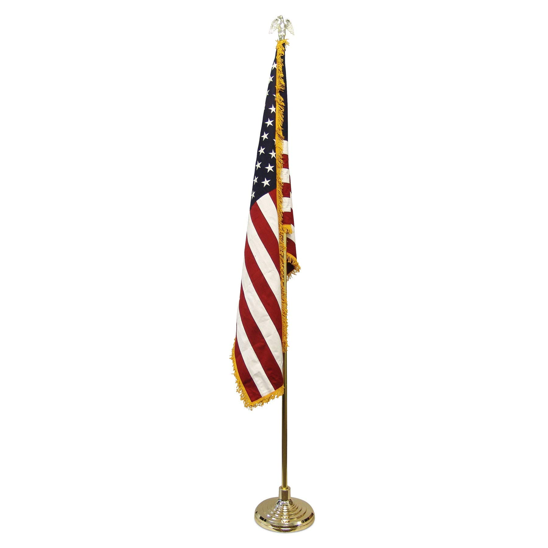 Super Tough Value Indoor American Flag and Pole Kit with Cotton Flag