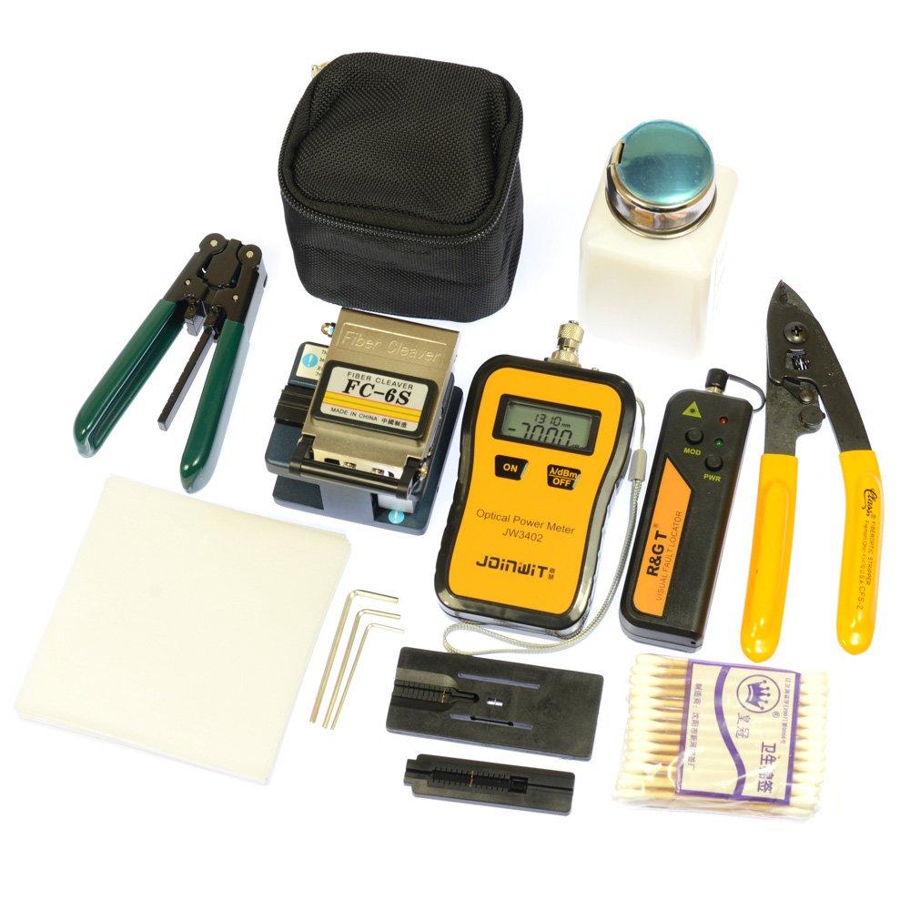 Fiber Optic Ftth Tool Kit Fc-6s Fiber Cleaver Optical Power Meter 10mw Pen-type Visual Fault Finder